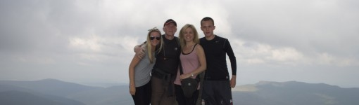 Family photo at the summit of Skiddaw, Lake District. From left; Me, Dad, Jodi and Joe