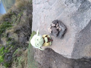 Yoda with the Apacheta stones_18.09.2015