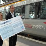 Cross Country Trains £1000 Cheque Presentation