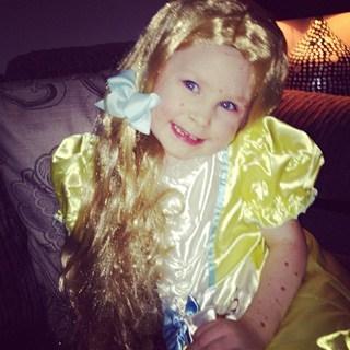 Ava dressed up - Christmas 2013