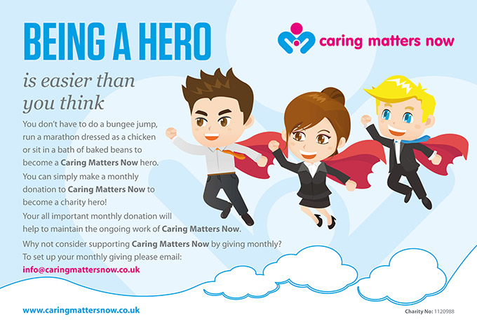 Help us make a difference by donating monthly to Caring Matters Now.