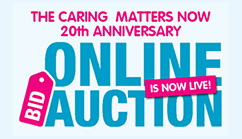 The Caring Matters Now 20th Anniversary online auction is now LIVE!