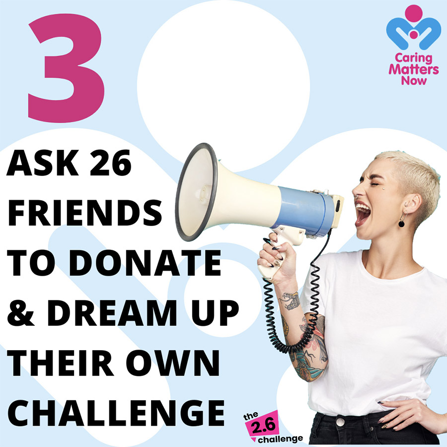 Join in the nationwide 2.6 Challenge - Step 3