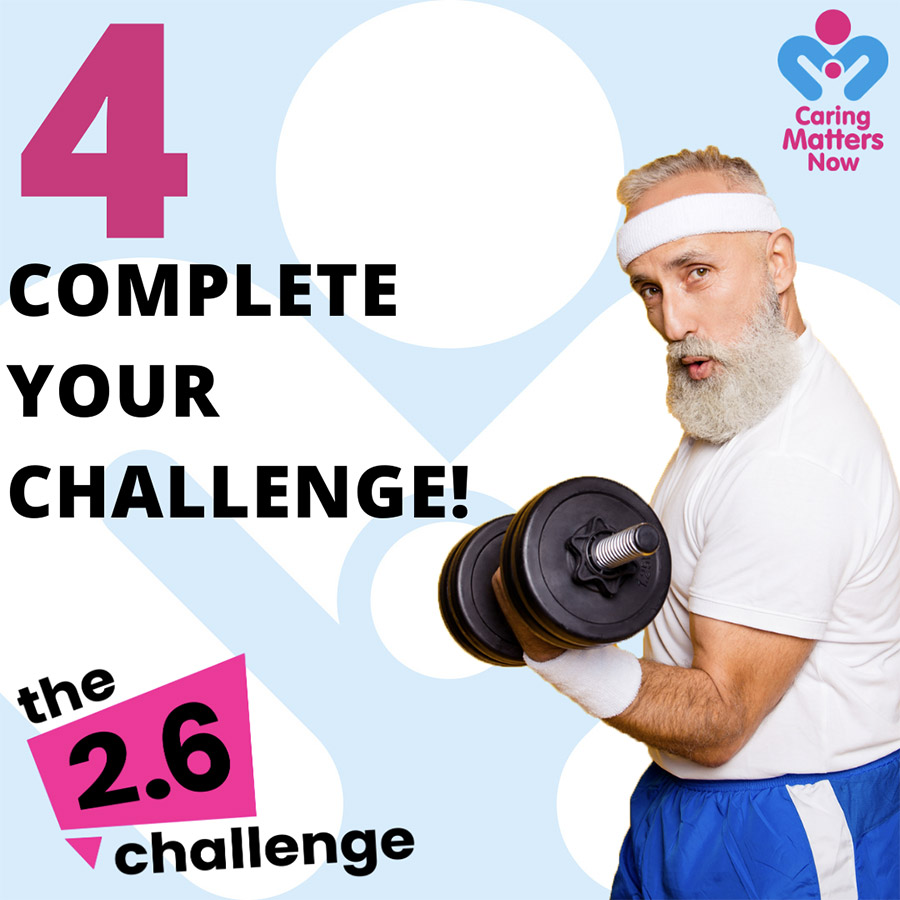 Join in the nationwide 2.6 Challenge - Step 4
