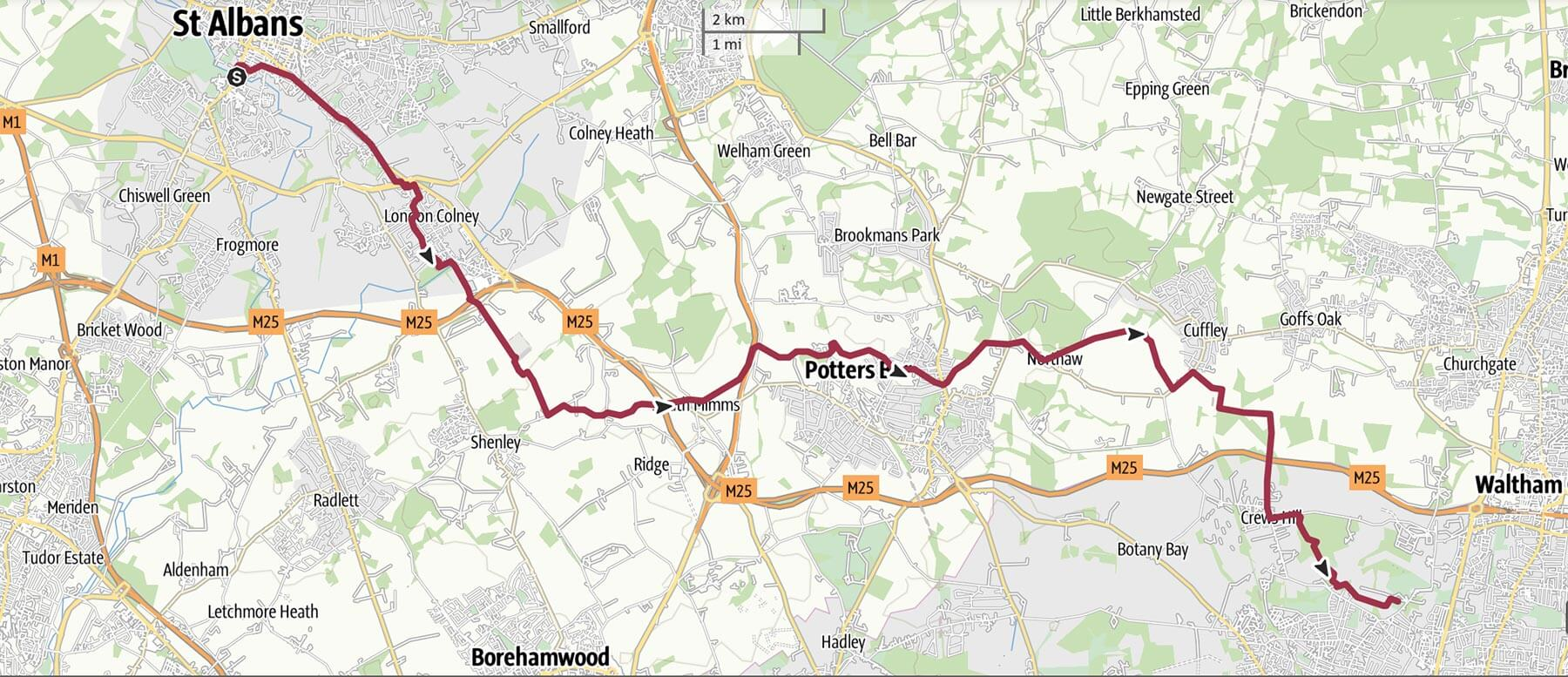 Day 12 - St Albans to Enfield Forty Hall