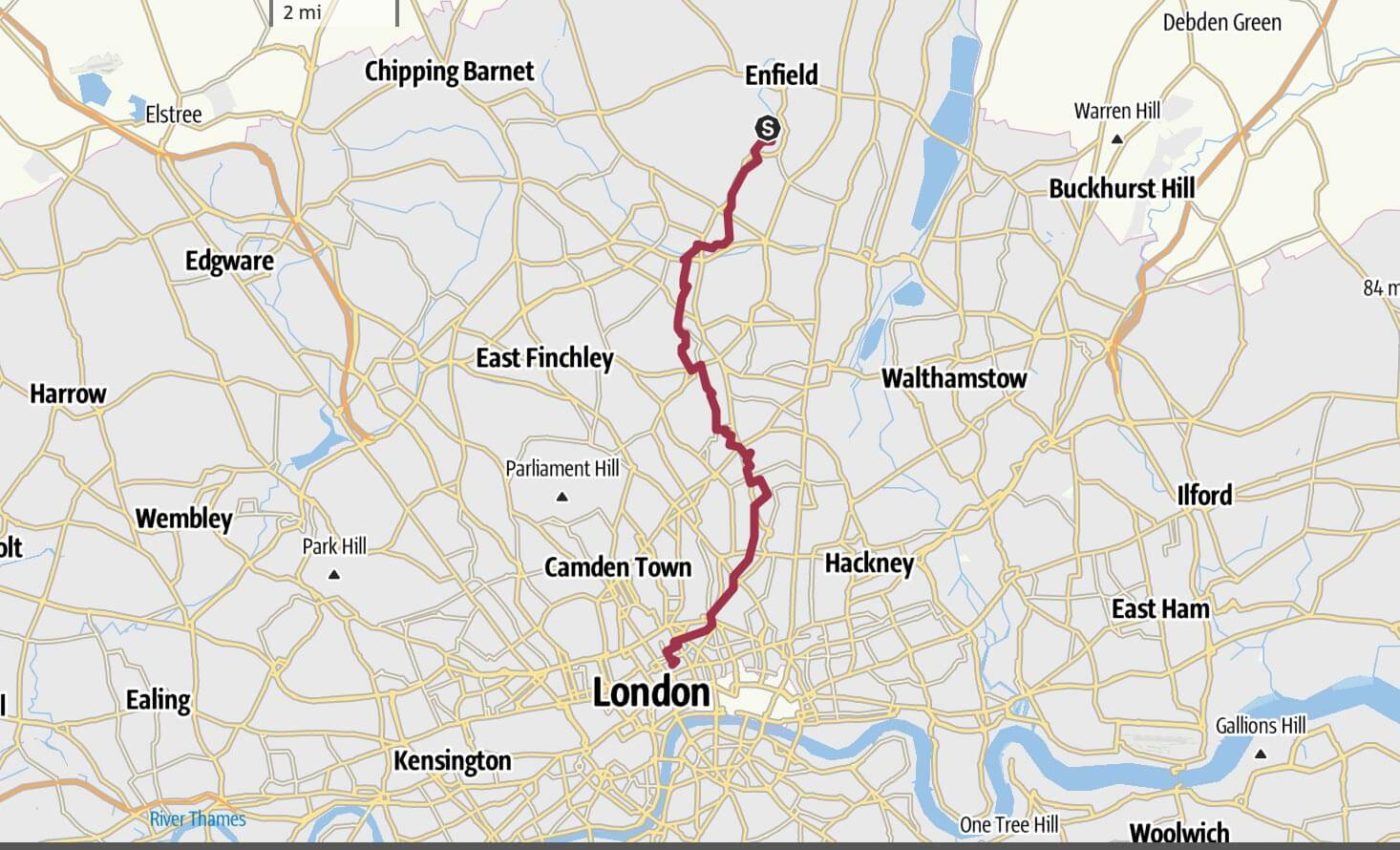 Day 13 - Enfield Forty Hall to GOSH