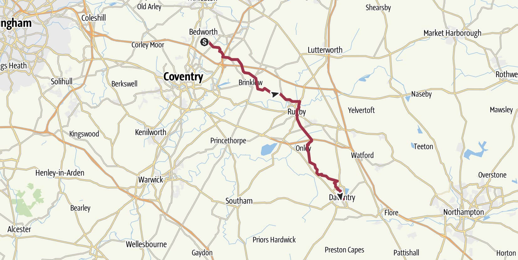 Day 7 - Bedworth to Daventry