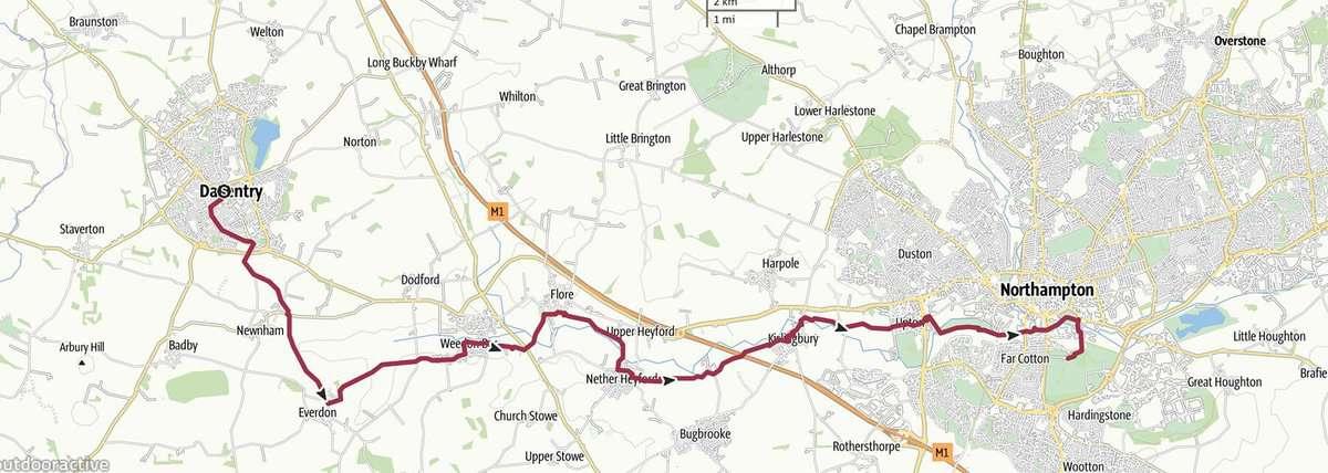 Day 8 - Daventry to Northampton